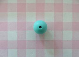 Siliconen kraal rond zeegroen 15 mm