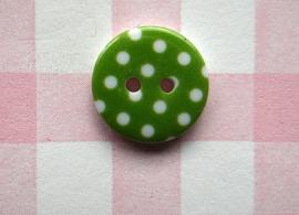 Knoop rond witte stip groen