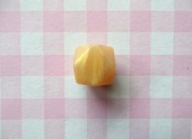 Siliconen kraal hexagon 17 mm goud