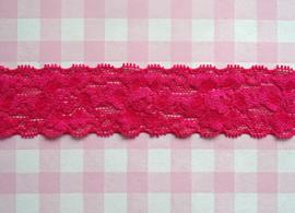Elastisch kant roze 35 mm