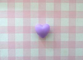 Siliconen kraal hart lila