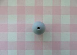 Siliconen kraal rond lichtgrijs 15 mm