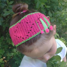 Haakpatroon zomerse haarband