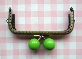 Portemonnee beugel kraal appelgroen