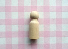 Houten poppetje jongen 43 mm