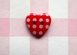 Hart rood stip