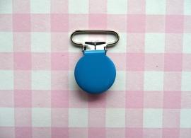 Speenclip  - bretelclip  metaal blauw