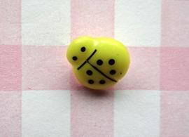Knoop lieveheersbeestje geel