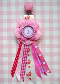 Verjaardagsbroche Flamingo