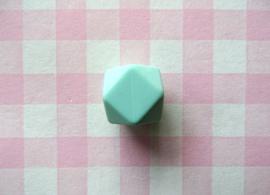 Siliconen kraal hexagon 17 mm mintgroen