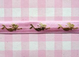 Elastiek zeemeermin roze