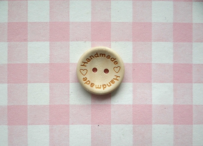 Knoop hout Handmade with love 25 mm