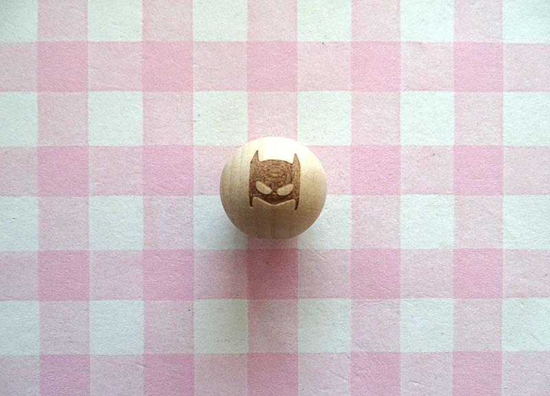 Houten kraal batman 20 mm