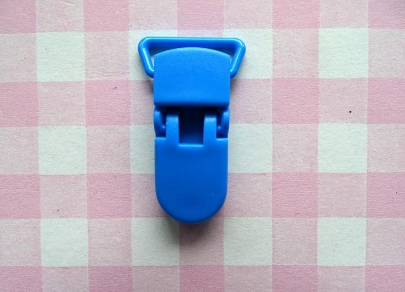 Speenclip  - bretelclip  kunststof blauw