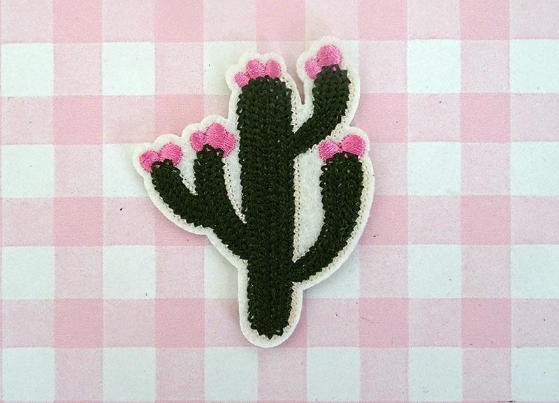 Strijkapplicatie cactus
