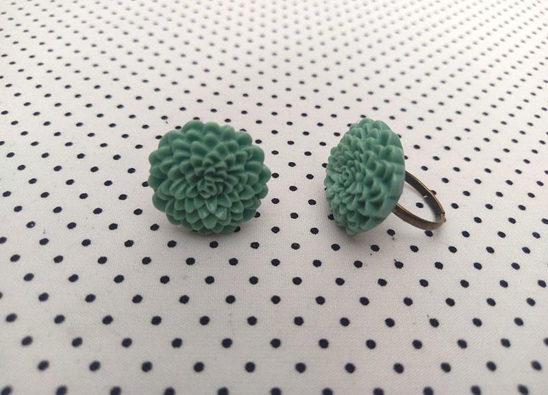 Ring dahlia antiek mint