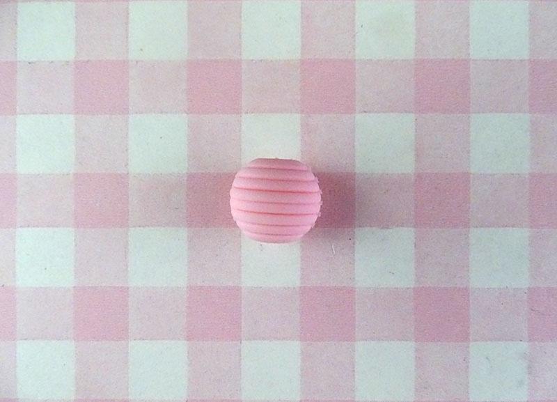 Siliconen kraal ribbel 15 mm roze