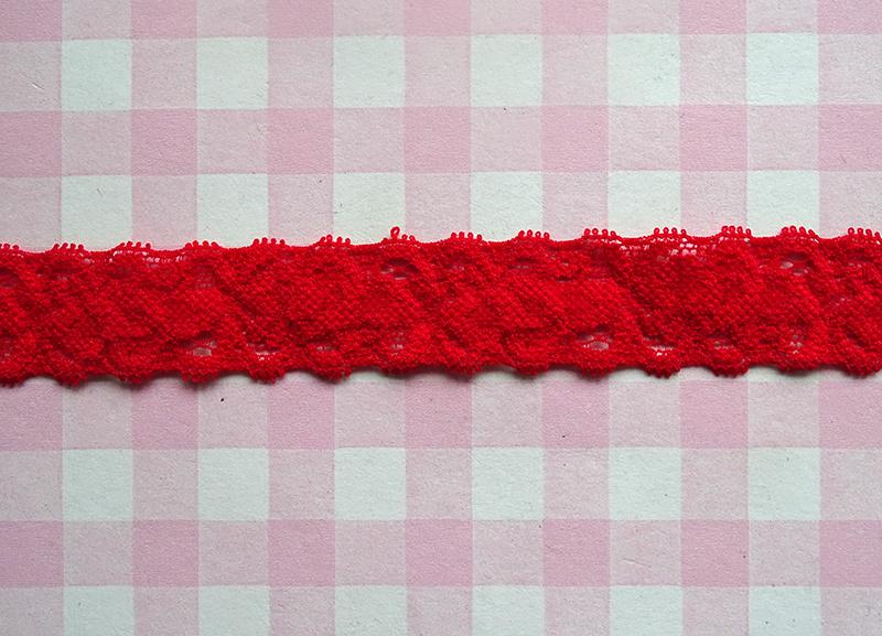 Elastisch kant rood 22 mm