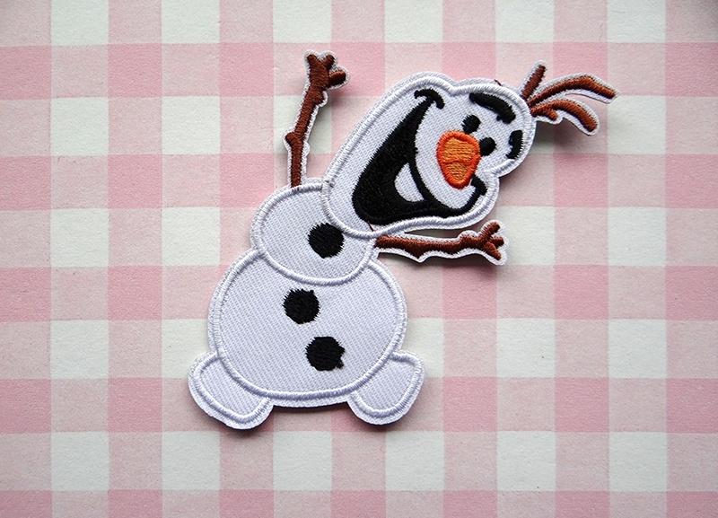 Strijkapplicatie Frozen Olaf