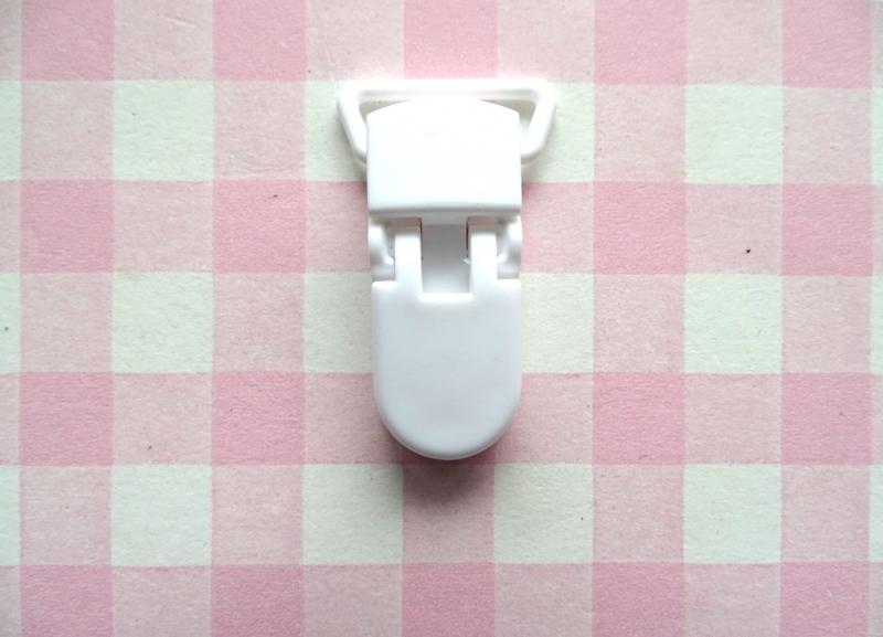 Speenclip  - bretelclip kunststof wit