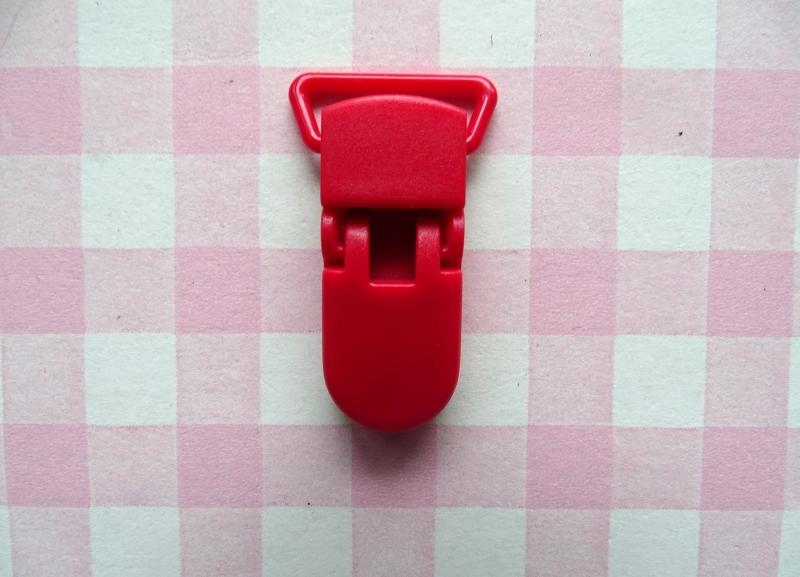 Speenclip  - bretelclip kunststof rood