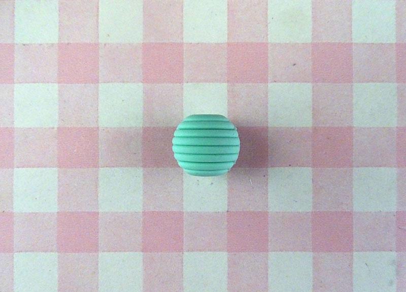Siliconen kraal ribbel 15 mm mint