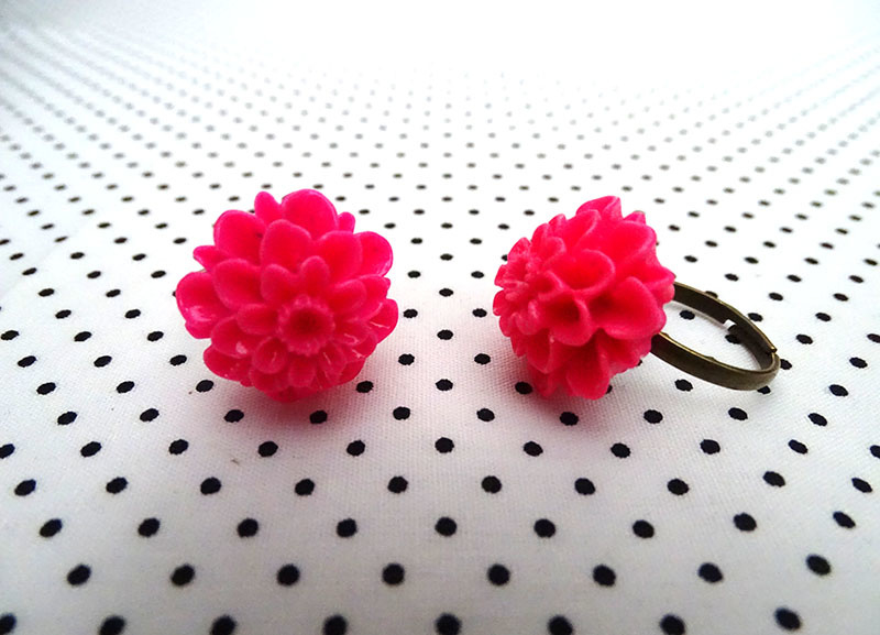 Ring chrysant fuchsia