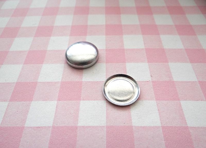 Flatback stofknoop 17 mm