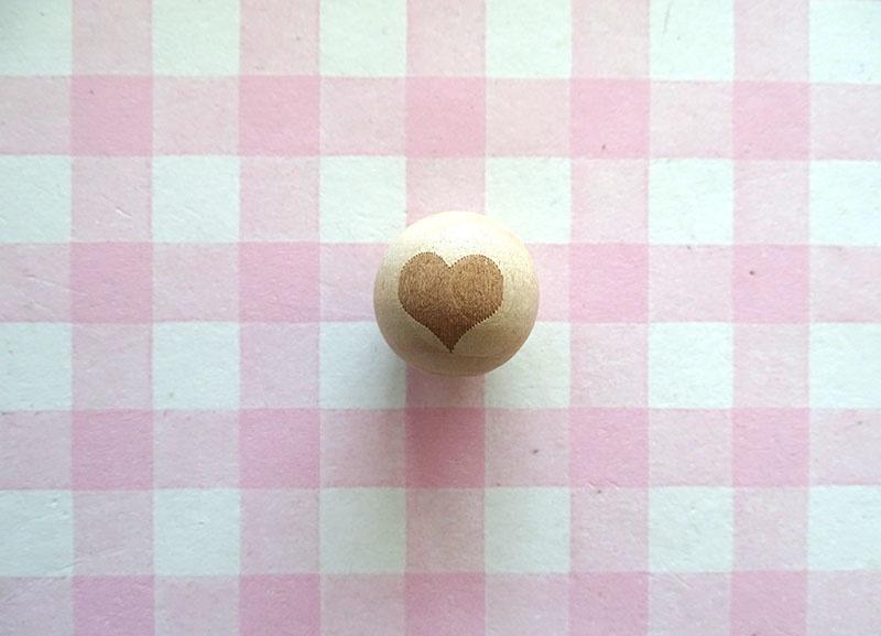 Houten kraal hart 20 mm
