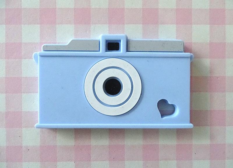 Teether camera blauw