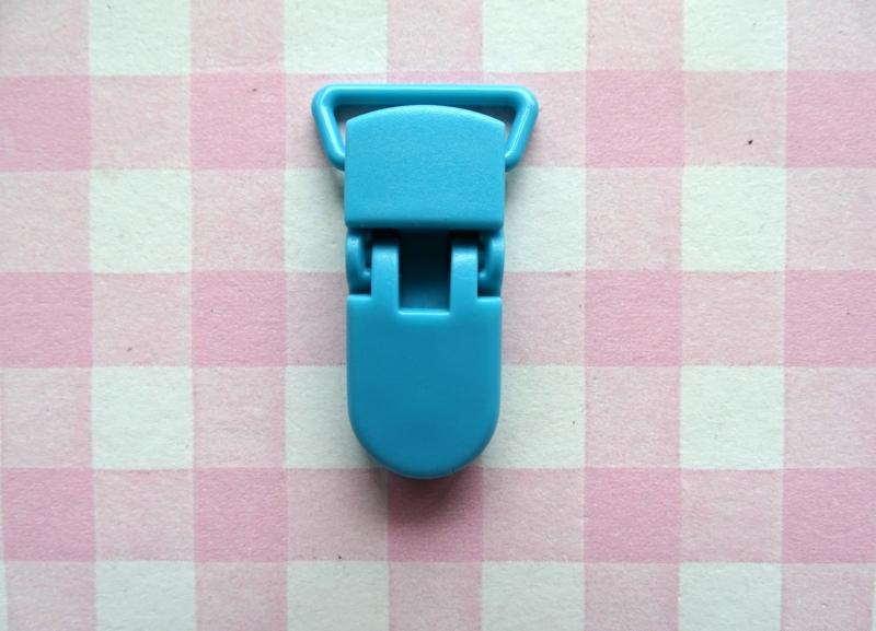 Speenclip  - bretelclip  kunststof zeeblauw