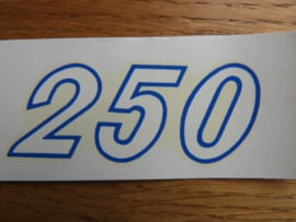 250 Aufkleber