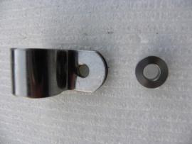 Rohrschelle für Werkzeugkasten aus Edelstahl mit Distanzring
