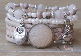 Armbandenset LS Nude/Pink dream | Portfolio (uitverkocht) | Be Tuttely