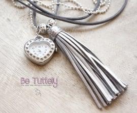 Horloge ketting! zilver