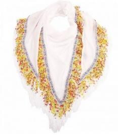 Sjaal Ibiza stijl white colours