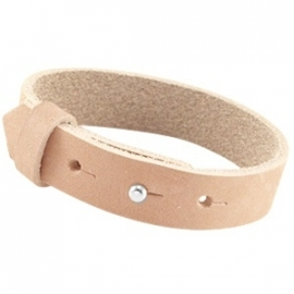 Armband 15 mm nubuck leer sandstone brown
