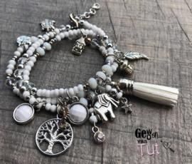 Armbanden Silver wit