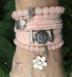 Stretchy Wrap met kralenbandjes Pink Melee