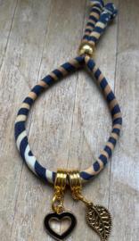 M&M ibiza koord armbandje goud (meer kleuren mogelijk)