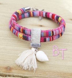 Ibiza Summer 2015 mix & match armband aztec breed dubbel met bedels