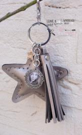 Sleutel / tashanger ster met foto Champ Metallic