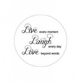 "Tekst slider voor 15 mm armband ""Live Laugh...."""