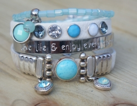 Armbandenset Ibiza Summer White and Blue