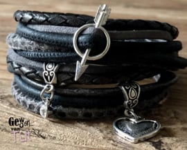 Armbandenset LS antra black grey