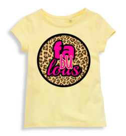 T-shirt Fabulous lichtgeel, mt 104-110-116-122-128, 5 stuks à € 12,00