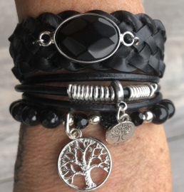 Armbandenset  Stone black