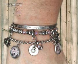 Armbandenset Liefde Roest Niet :-) pink