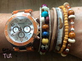 Horloge met armbanden New Brick Rosé and colours