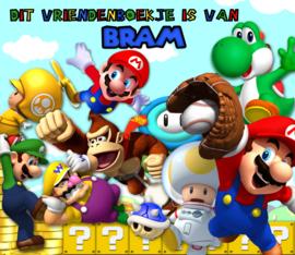 Vriendenboekje Super Mario Bros New met jouw naam! en evt foto